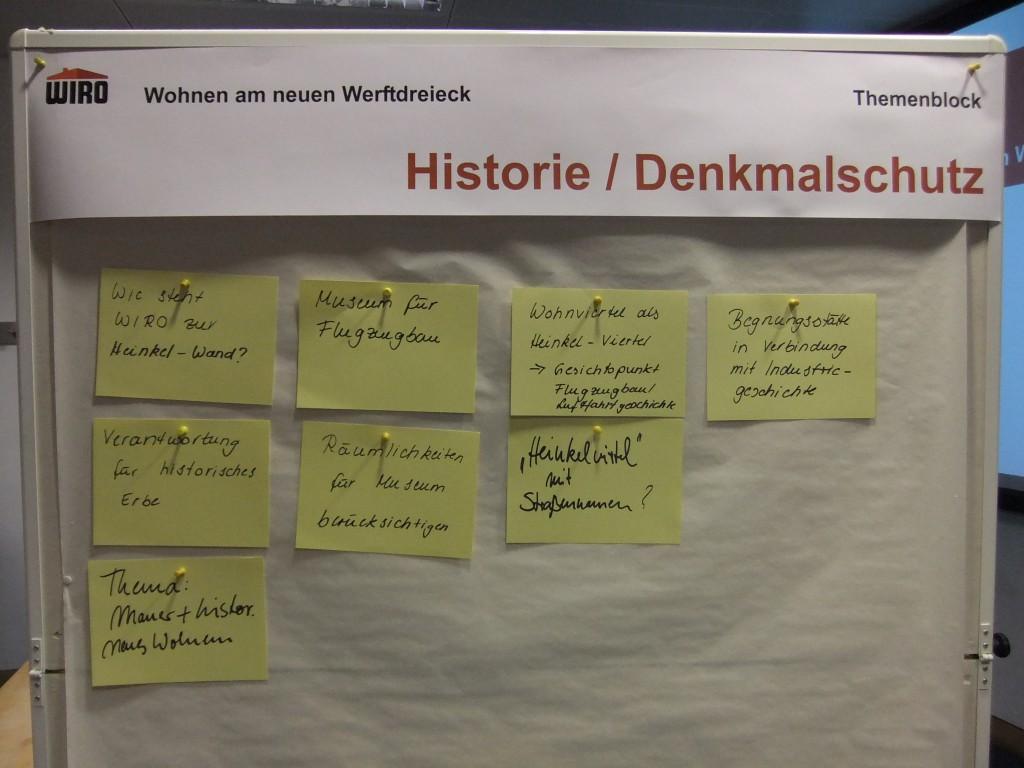 Historie Denkmalschutz